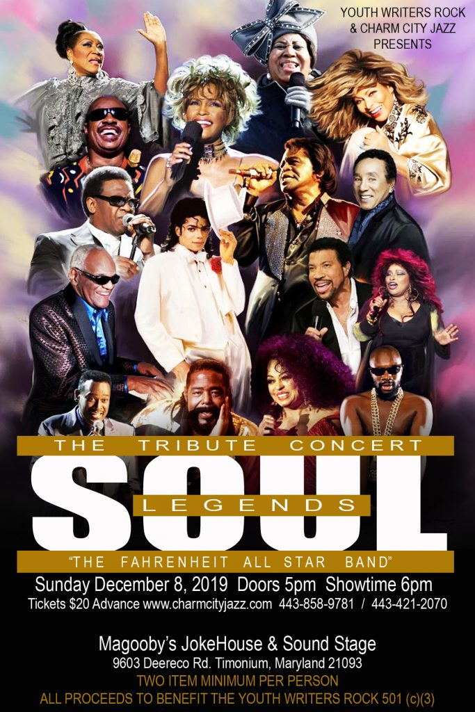 Soul Legends – The Tribute Concert-Dec. 8th 2019